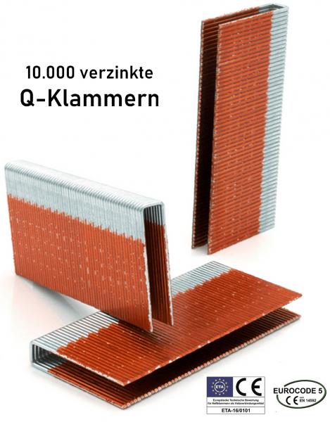 Q-Klammern 63 mm verzinkt 12 my