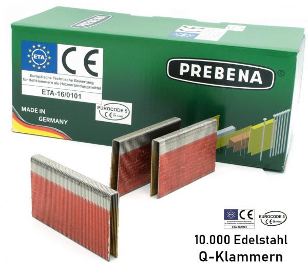 Q-Klammern 63 mm Edelstahl V2A