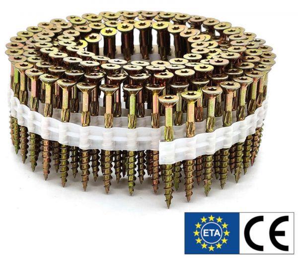 Coil adunox-SuperUni Holzschrauben / Spanplattenschrauben   gelb verzinkt