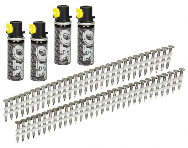 Streifen Haftennägel 20° 32 x 2,8 mm Ring/V2A inkl. Gas