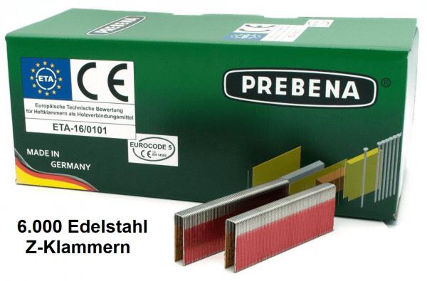 Z-Klammern 64 mm Edelstahl V2A