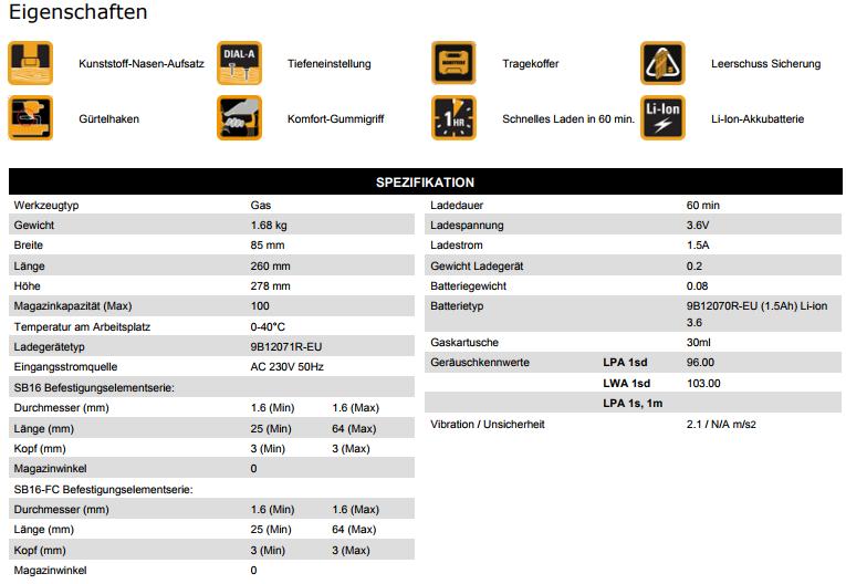 Bostitch-DatenblattStiftnaglerGFN1664K-E