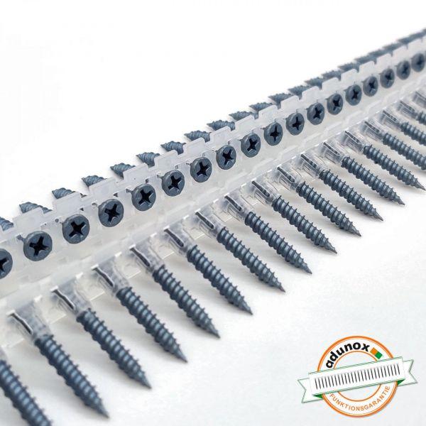 BLUEfast500® Faserplattenschrauben | Hi-Lo-Gewinde | Magaziniert