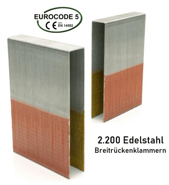 Breitrückenklammern 150 mm Edelstahl V2A
