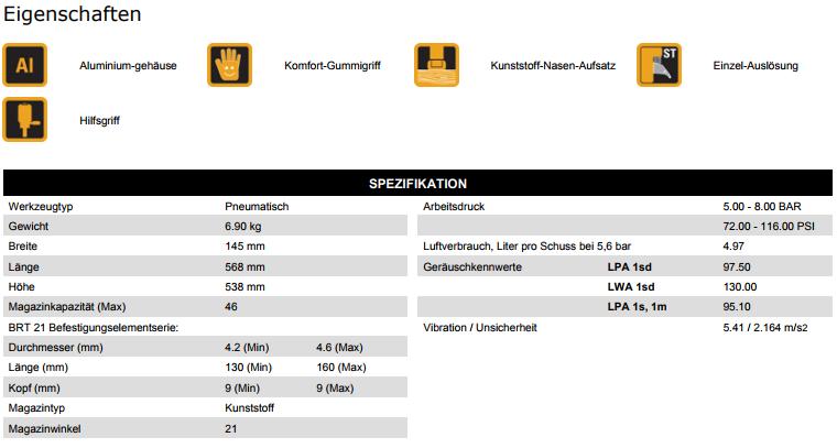 BostitchDatenblattStreifennagler160mm