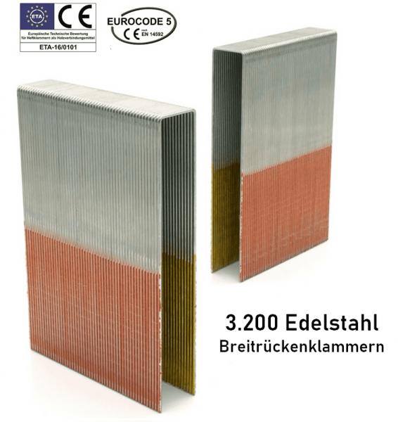 Breitrückenklammern 100 mm Edelstahl V2A