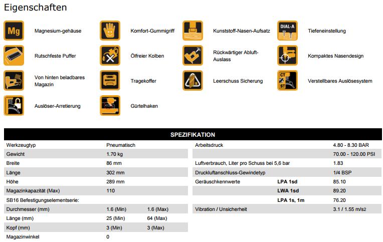 Bostitch-DatenblattBostitch-Stifnagler-FN1664-E