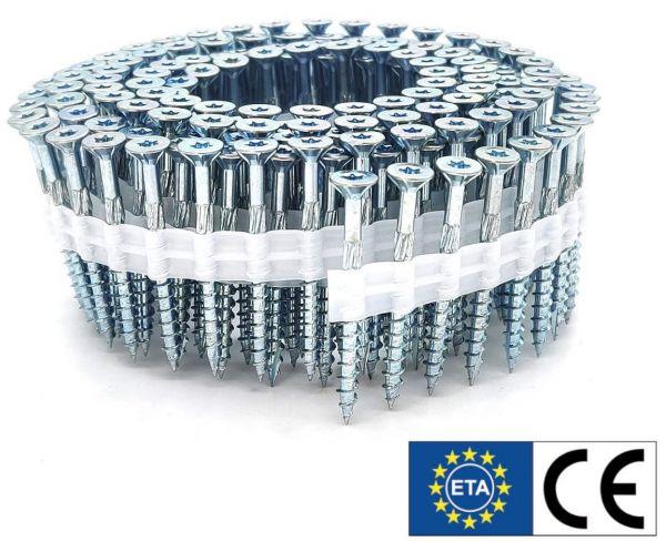 Coil adunox-SuperUni Holzschrauben / Spanplattenschrauben | hell verzinkt | ETA